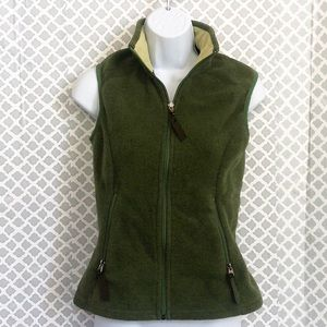 Patagonia Synchilla army green fleece zip up vest